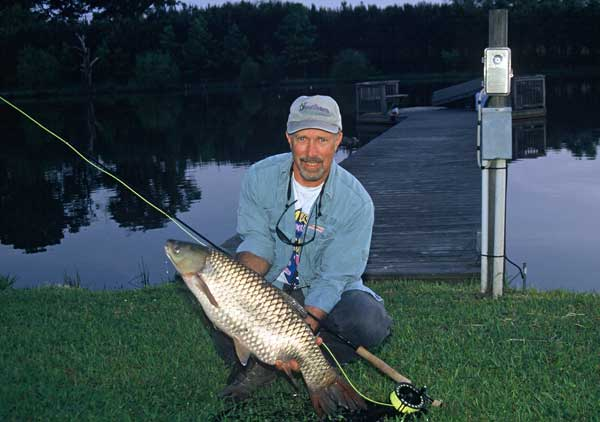 Grass carp in the 20-pound range are exciting action on a 5- to8-wt fly rod. Although it is not quite the same as sight casting to a redfish