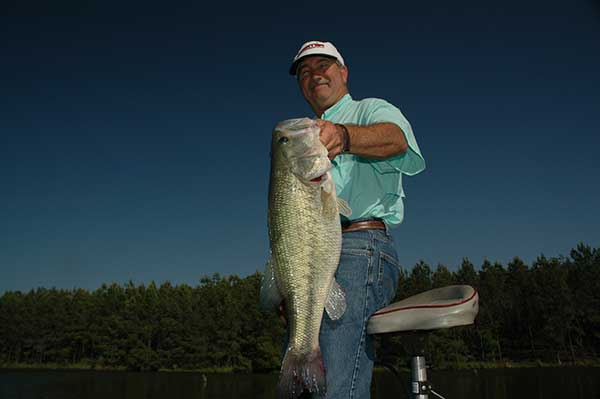 This 10-pound Tiger Bass is less than 5 years old. This rapid growth is not uncommon in the Southeastern United States. Proper stocking and management produces consistent results of trophy bass.