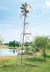 Wind driven aeration is popular, especially where electricity isn't available.